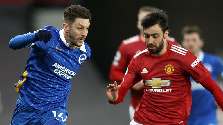 Adam Lallana impressed for Brighton at Old Trafford