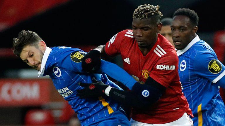 Paul Pogba challenges Adam Lallana