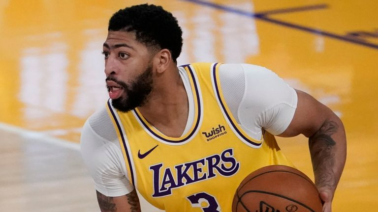 Los Angeles Lakers' Anthony Davis has been out since February 14 (AP Photo/Jae C. Hong)
