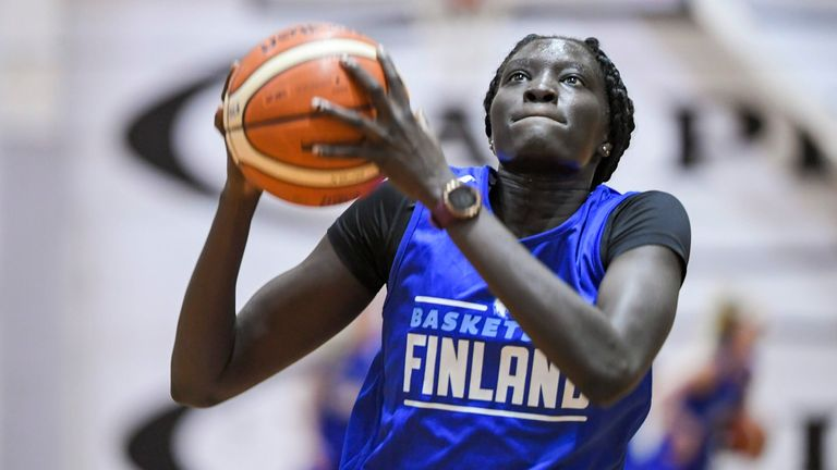 Awak Kuier was the second overall pick in the WNBA Draft, joining the Dallas Wings (Markku Ulander/Lehtikuva via AP))
