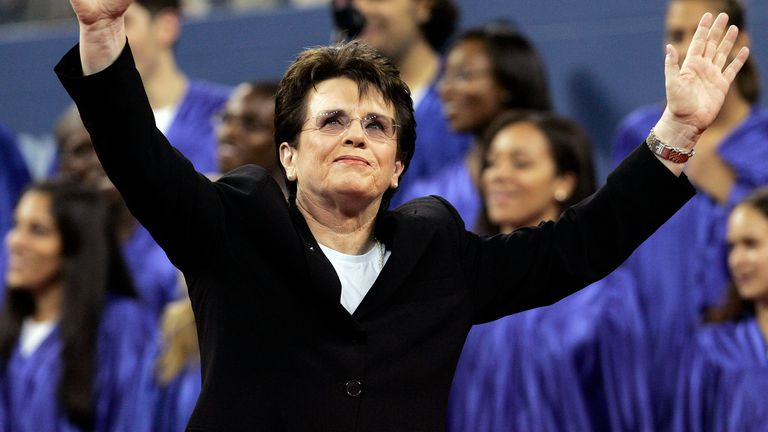 Billie Jean King was a 12-time Grand Slam champion and trailblazer who was part of the winning team of the inaugural Fed Cup in London in 1963