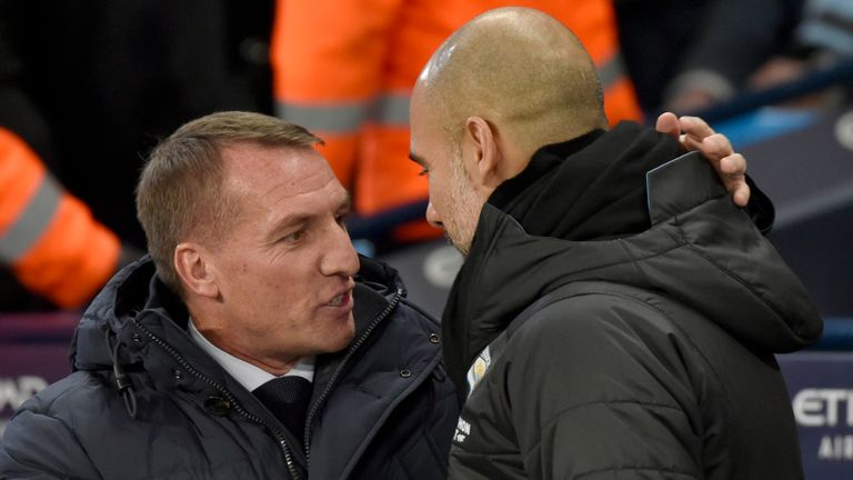 Brendan Rodgers and Pep Guardiola