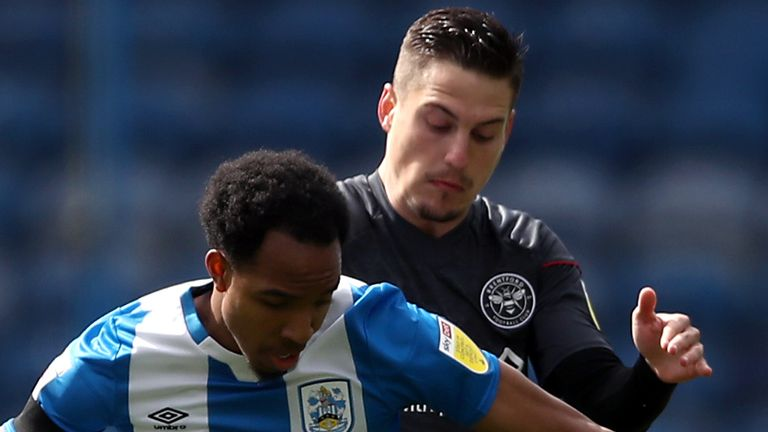 Brentford were held to a 1-1 draw away at Huddersfield