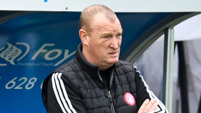 Brian Rice was unhappy with the referee following Hamilton's 3-0 defeat to St Mirren in the Scottish Cup