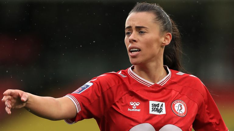 Bristol City's Laura Rafferty during the FA Women's Continental Tyres League Cup final match at Vicarage Road, London. Picture date: Sunday March 14, 2021 (PA)