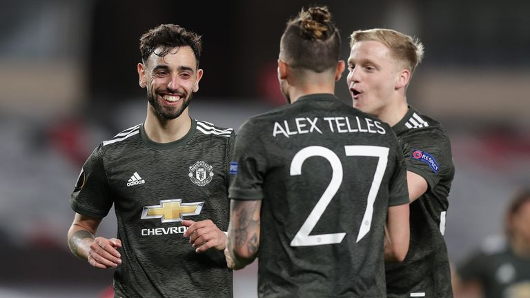 Bruno Fernandes extended Man Utd's lead against Granada with a late penalty