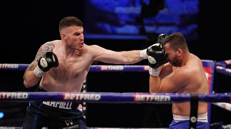Nick Campbell vs Petr Frohlich, Heavyweight Contest. 10 April 2021 Picture By Dave Thompson Matchroom Boxing