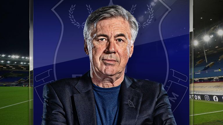 Everton manager Carlo Ancelotti spoke exclusively to Sky Sports