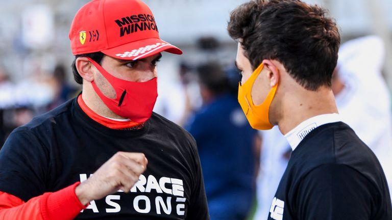 Team-mates turned inter-team rivals, Ferrari's Carlos Sainz and McLaren's Lando Norris