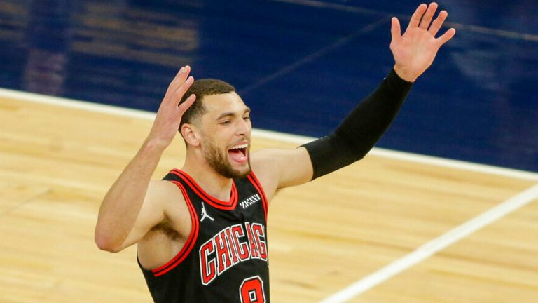 AP - Chicago Bulls guard Zach LaVine plays against the Minnesota Timberwolves