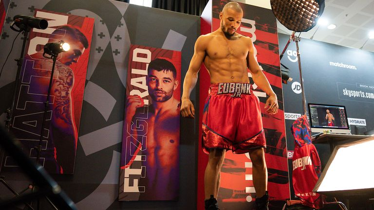 *** FREE FOR EDITORIAL USE ***.Chris Eubank Jr during todays Media Day.28 April 2021.Picture By Dave Thompson Matchroom Boxing