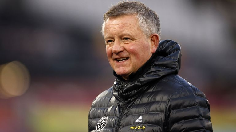 Sheffield United manager Chris Wilder before the Premier League match at the London Stadium, London. Picture date: Monday February 15, 2021.