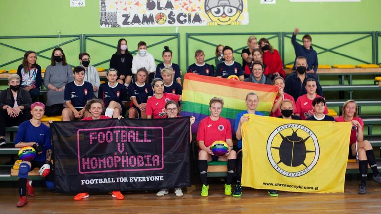KS Chrzaszczyki - Queer Futbol event in Zamosc - Fotografie Katarzynki