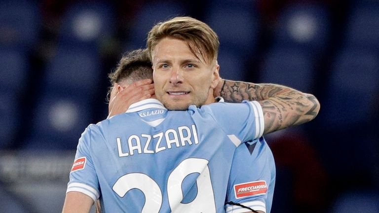 Cirro Immobile's goal helped Lazio keep their Champions League qualification hopes alive