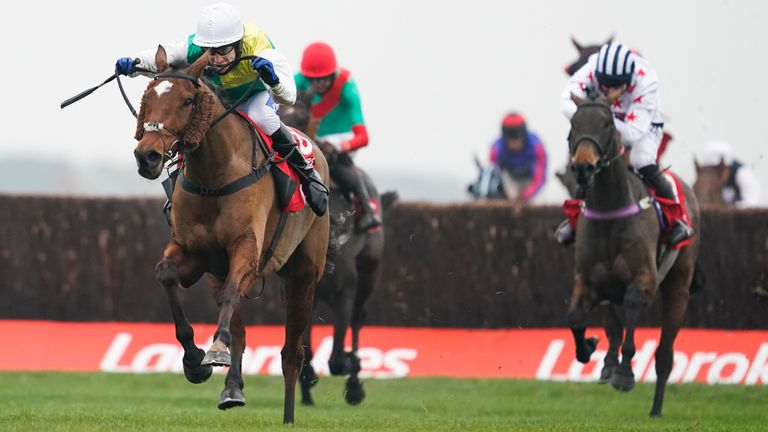 Scudamore and Cloth Cap won The Ladbrokes Trophy Chase at Newbury in November