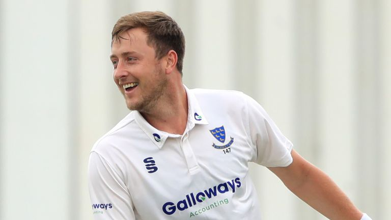 Sussex seamer Ollie Robinson bagged a nine-wicket haul against Glamorgan in a superb display