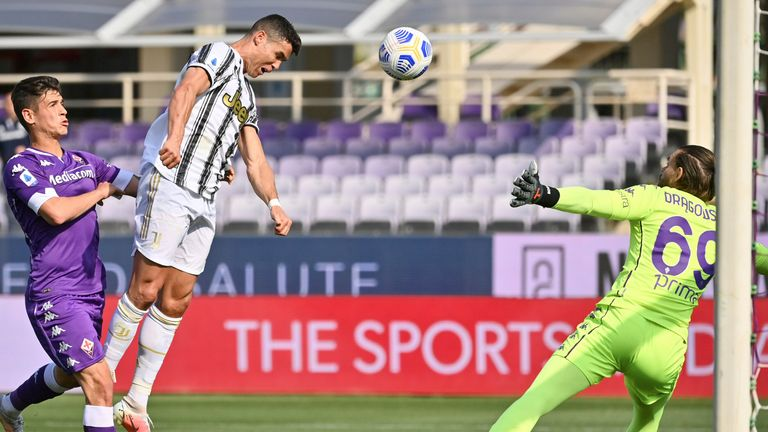 Cristiano Ronaldo missed a good chance during Juventus' draw on Sunday