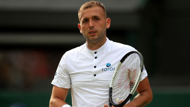 Dan Evans does not know what to expect at this year's Wimbledon