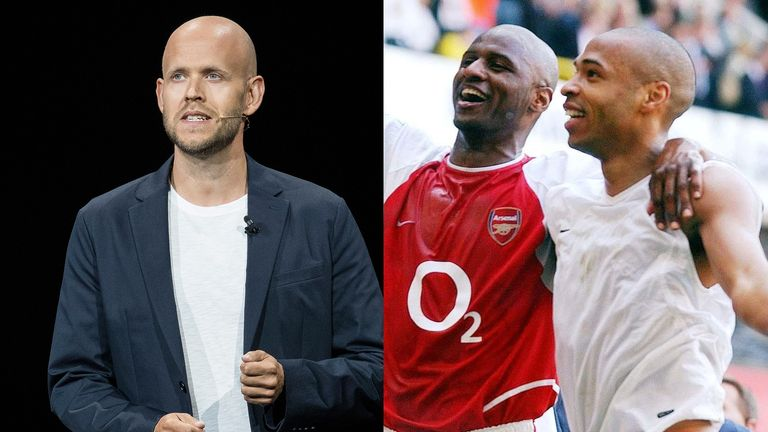 Swedish billionaire Ek, co-founder and chief executive of music streaming service Spotify, has declared an interest in buying Arsenal