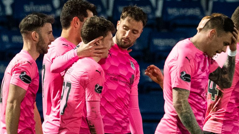 Daniel Mackay celebrates his goal during a Scottish Cup Third Round tie