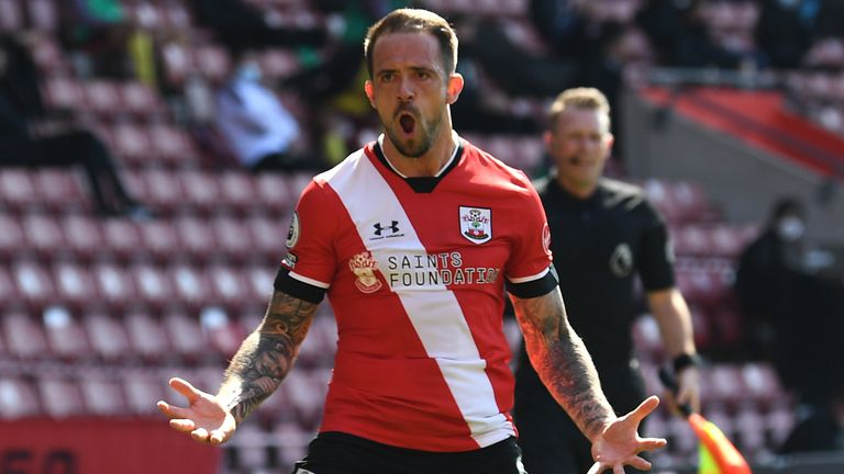 Southampton's Danny Ings celebrates after scoring against Burnley
