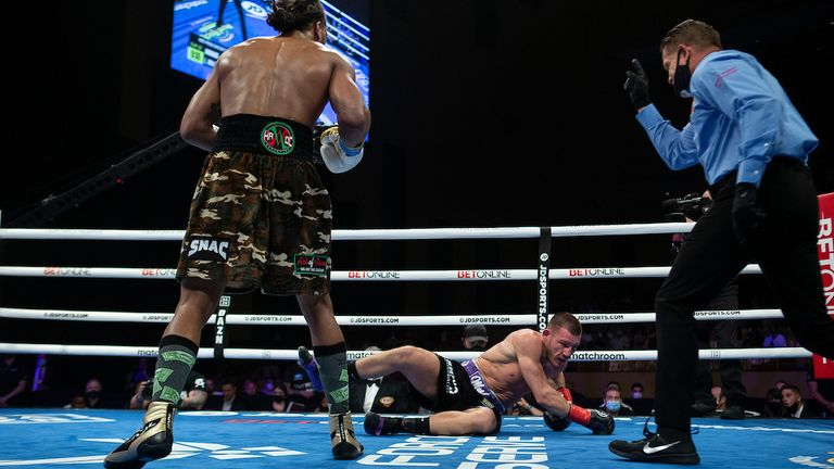 Andrade floored Williams in the second round