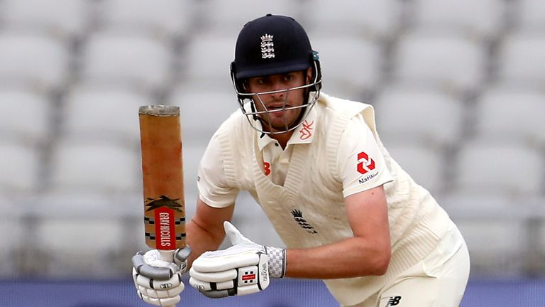 England's Dom Sibley's stock has risen due to his batting displays in 2020