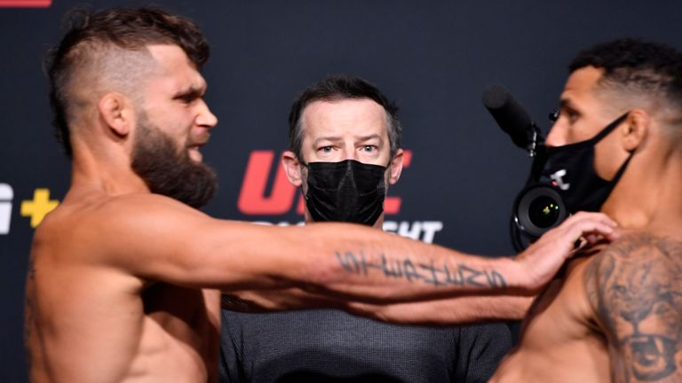 It kicked off at the weigh-ins after Jeremy Stephens pushed Drakkar Klose