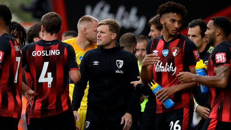 Eddie Howe led Bournemouth from League Two to the Premier League