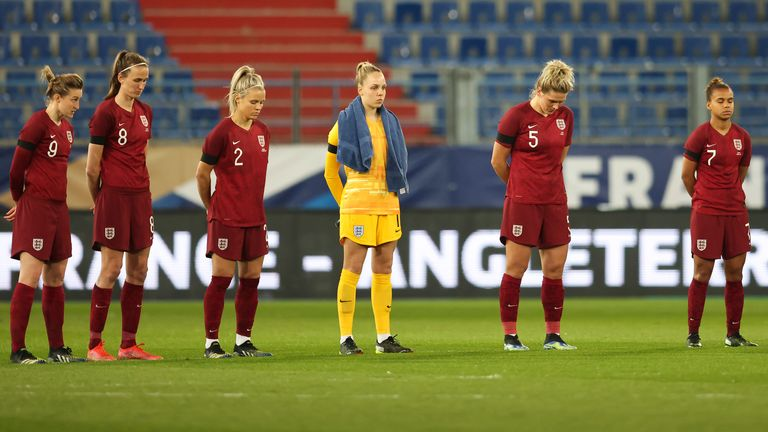 England Women observed a minute of silence after the passing of the Duke of Edinburgh earlier today