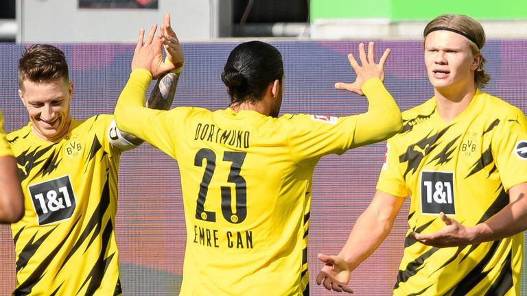 Erling Haaland scored twice in Borussia Dortmund's victory