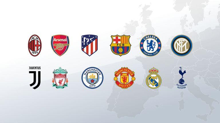 European Super League clubs