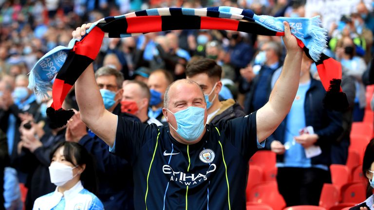 There were 8,000 supporters inside Wembley for the Carabao Cup final between Manchester City and Tottenham