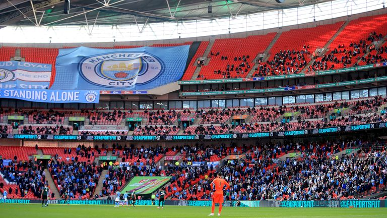 City fans watched their side win a fourth straight Carabao Cup