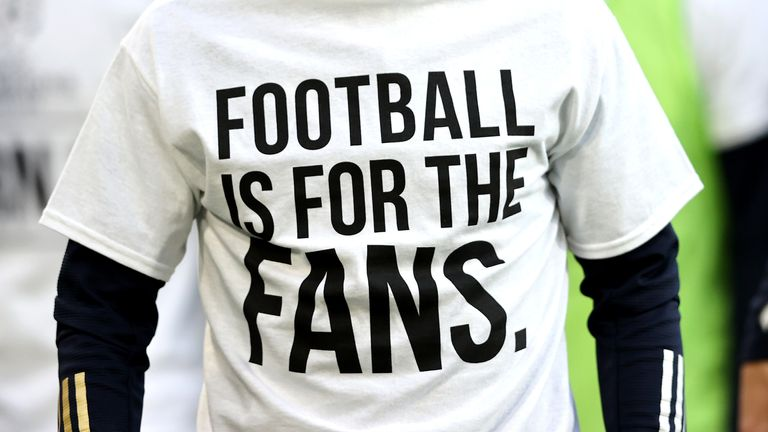 PA - 'Football is for the fans' t-shirt