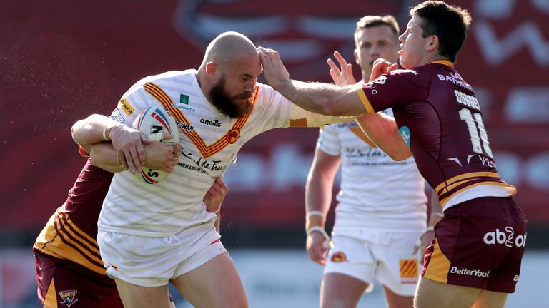 Gil Dudson in action for the Dragons