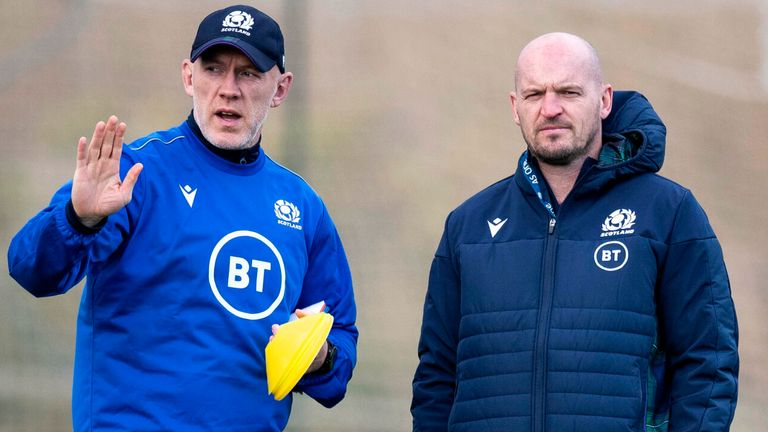 Steve Tandy (left) has worked under Scotland coach Gregor Townsend since 2019