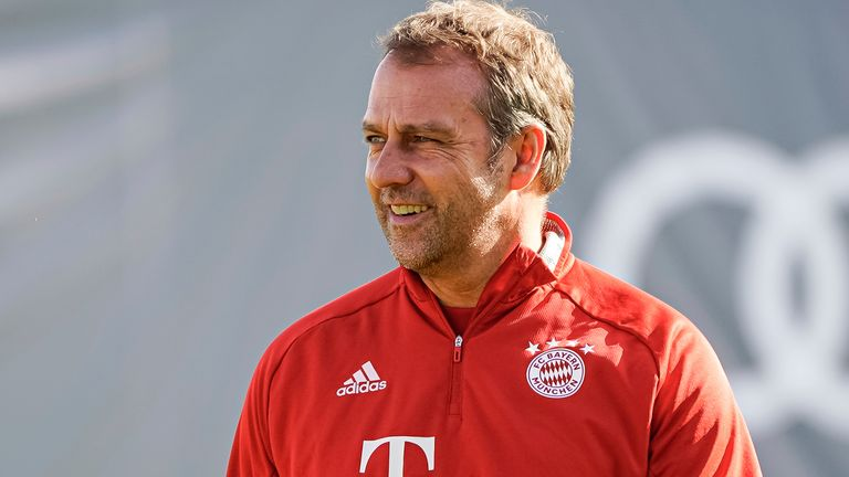 Hansi Flick guided Bayern Munich to the German domestic treble last season