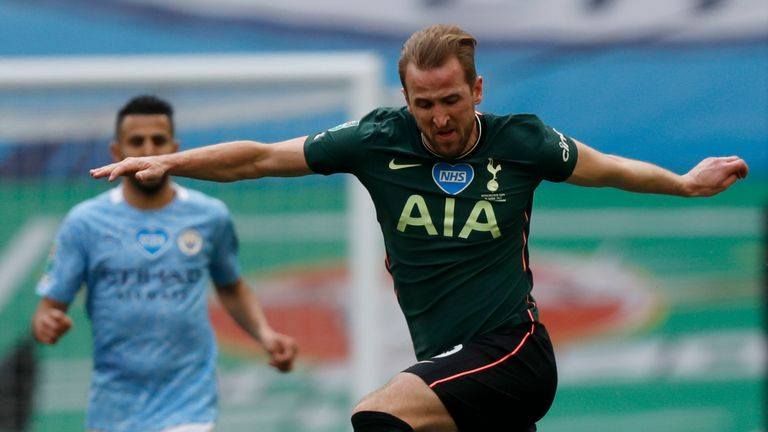 Harry Kane failed to have a touch in the City box in the first half