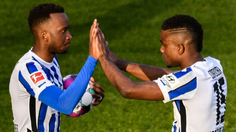 Hertha Berlin earned a point against Union thanks to a Dodi Lukebakio penalty