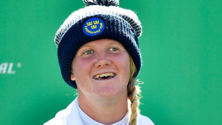 Ingrid Lindblad of Sweden holds a share of the halfway lead