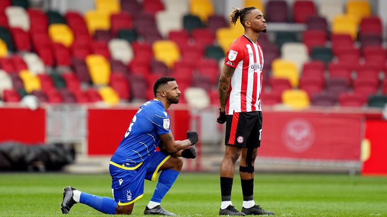 Ivan Toney previously told Sky Sports News players are being 'used as puppets' in taking a knee