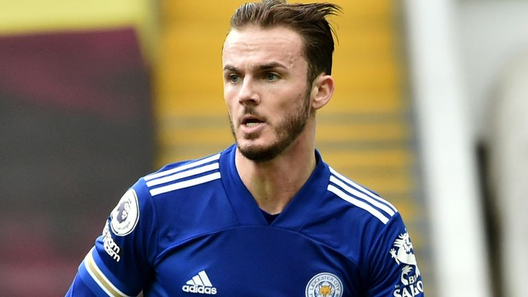 Leicester's James Maddison (AP)