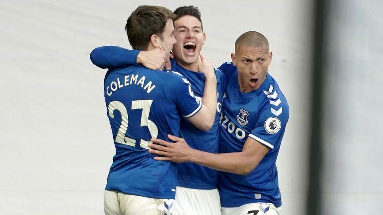 James Rodriguez put Everton in front