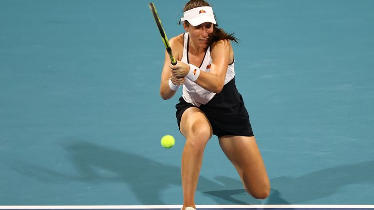 Johanna Konta secured only her third victory of the season