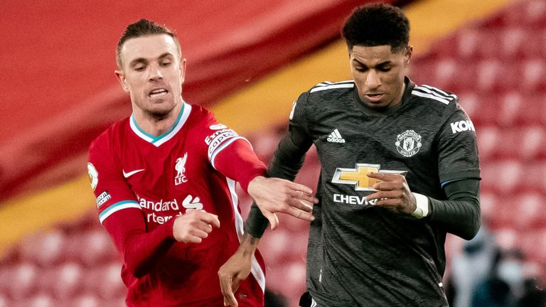 Action from Liverpool vs Man Utd