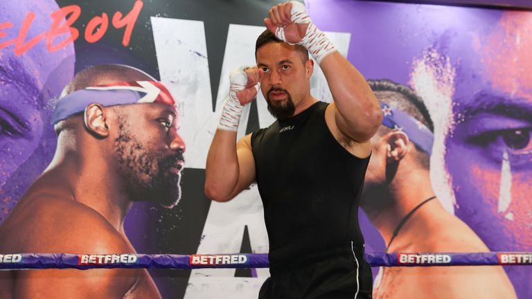 *** FREE FOR EDITORIAL USE ***.Joseph Parker trains at the fight hotel .28 April 2021.Picture By Mark Robinson Matchroom Boxing
