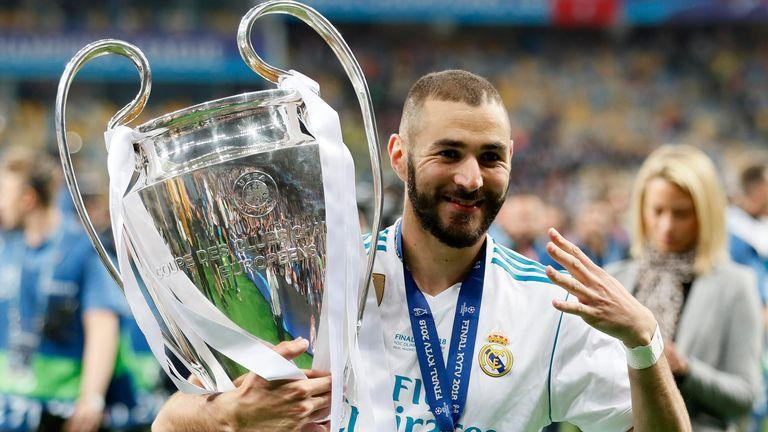 Derechos de autor de la imagen David Klein / Sportimage Image caption Karim Benzema ayudó al Real Madrid a ganar la final de la UEFA Champions League 2018 contra el Liverpool.