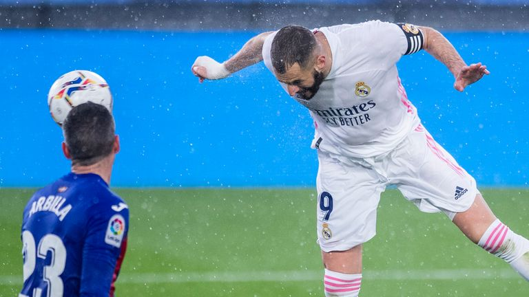 Karim Benzema headed home Real Madrid's second