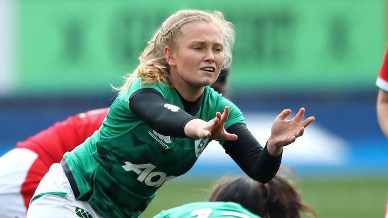 Kathryn Dane in action for Ireland